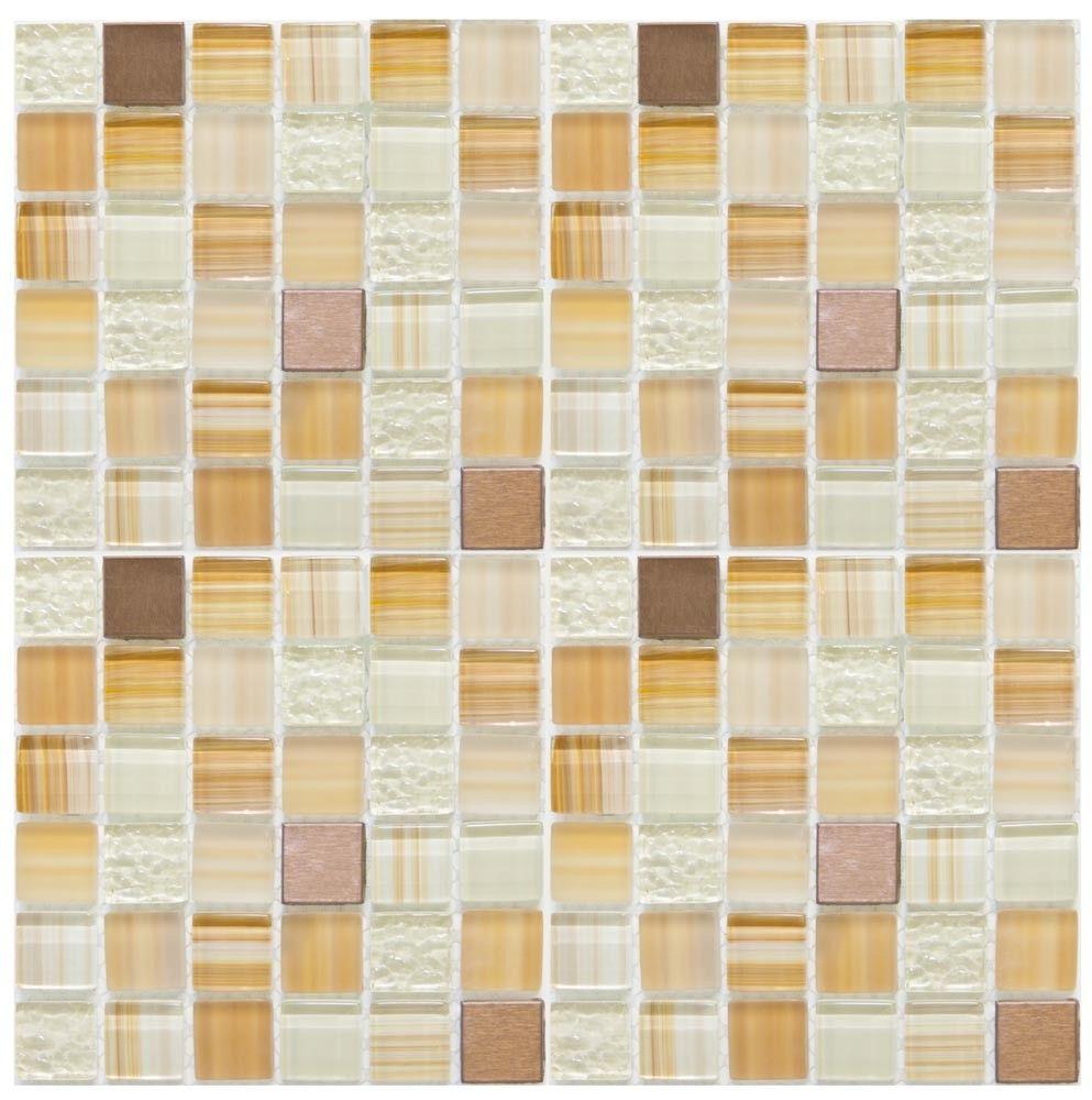 - Mineral Tiles - Diy Network Tile Backsplash Kit 15Ft Harvest Blend
