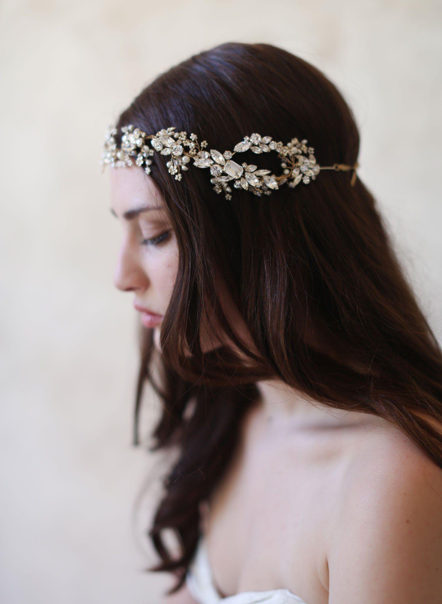 crystal dazzle ornate headband - style #519 | wedding