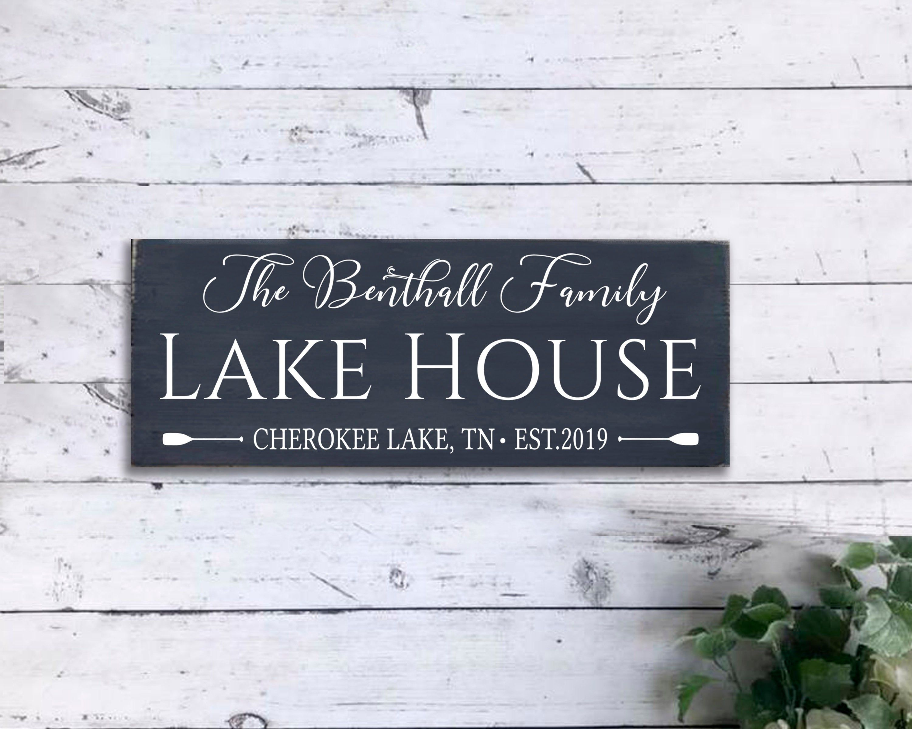 Personalized Beach House Sign Beach House Decor Beach House