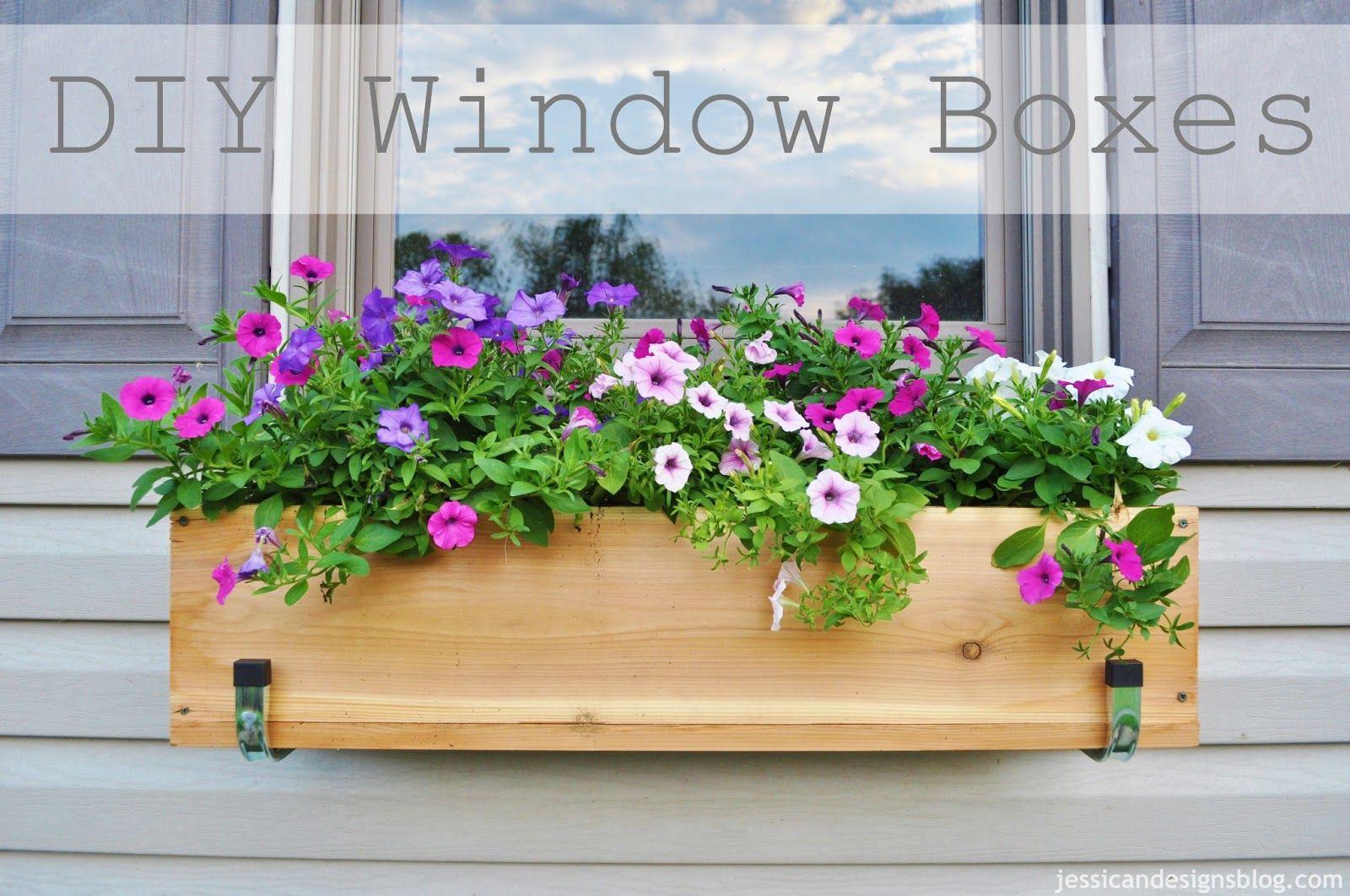 Diy cedar window boxes crafthubs window box flowers
