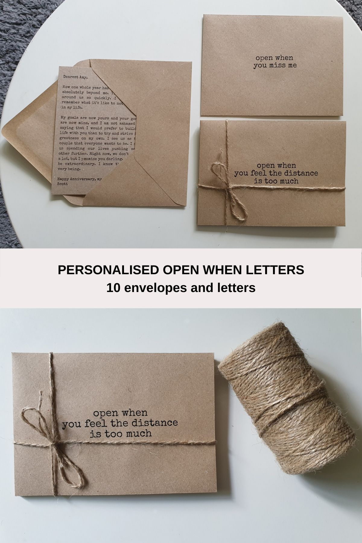 Personalised Open when letters