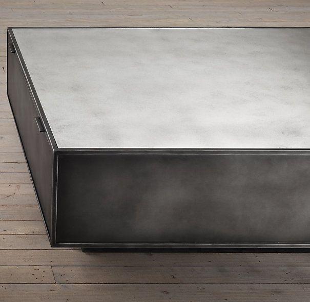 Restoration Hardware Gramercy Mirrored Cocktail Table