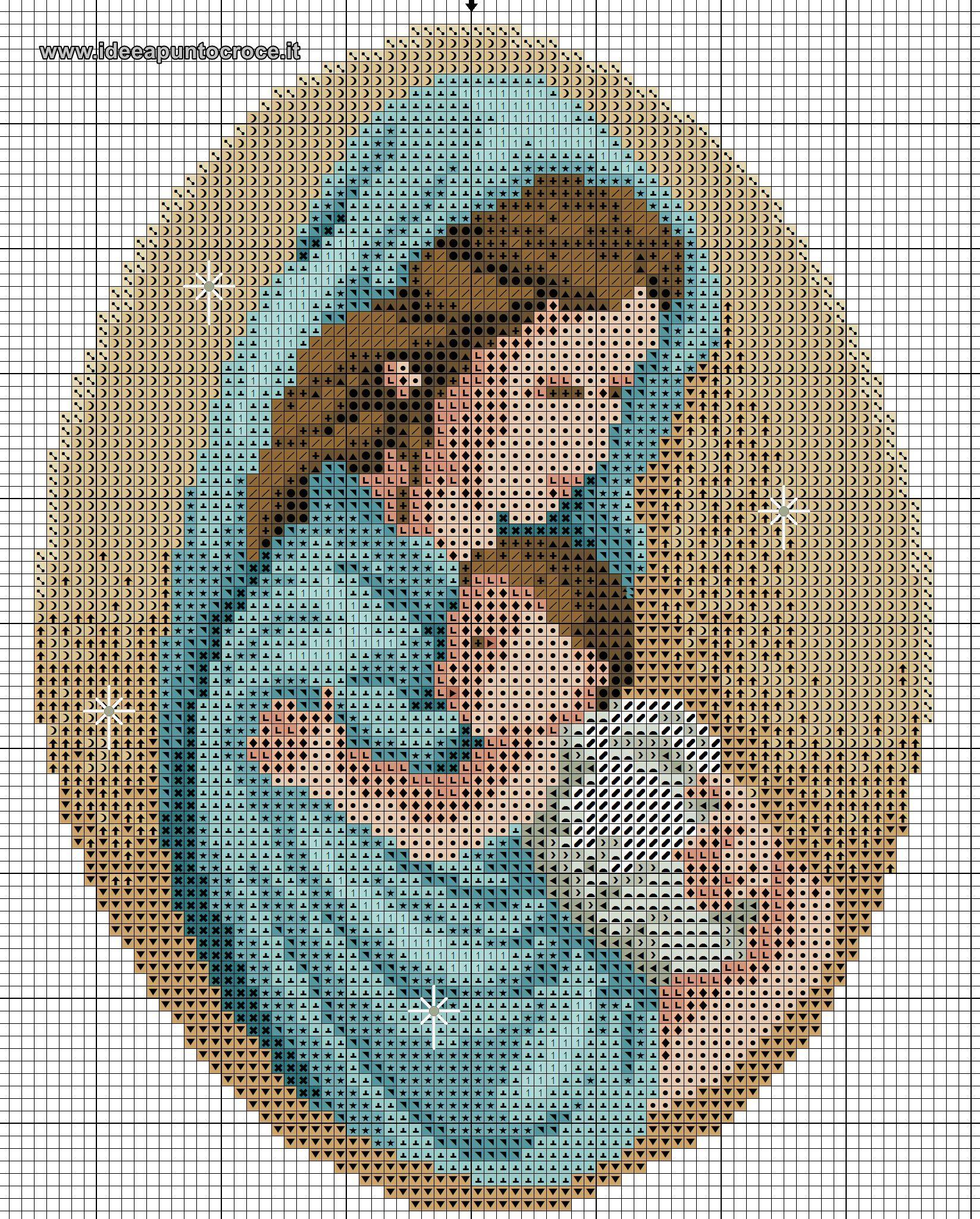 Schema punto croce madonna con bambino patrones de punto for Punto croce immagini