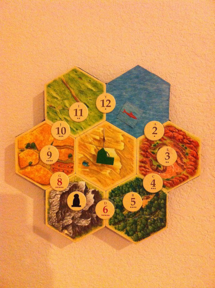 Settlers of Catan clock. I think I know what I'm making