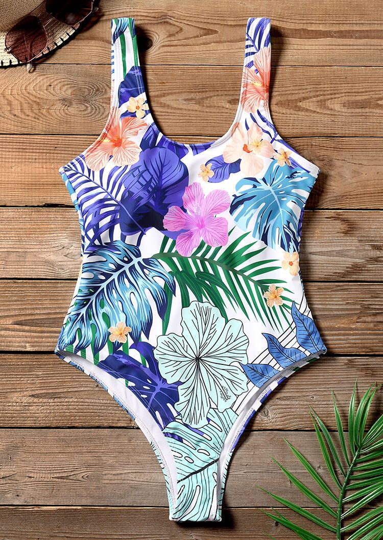 Floral One-Piece Sexy Swimsuit 4
