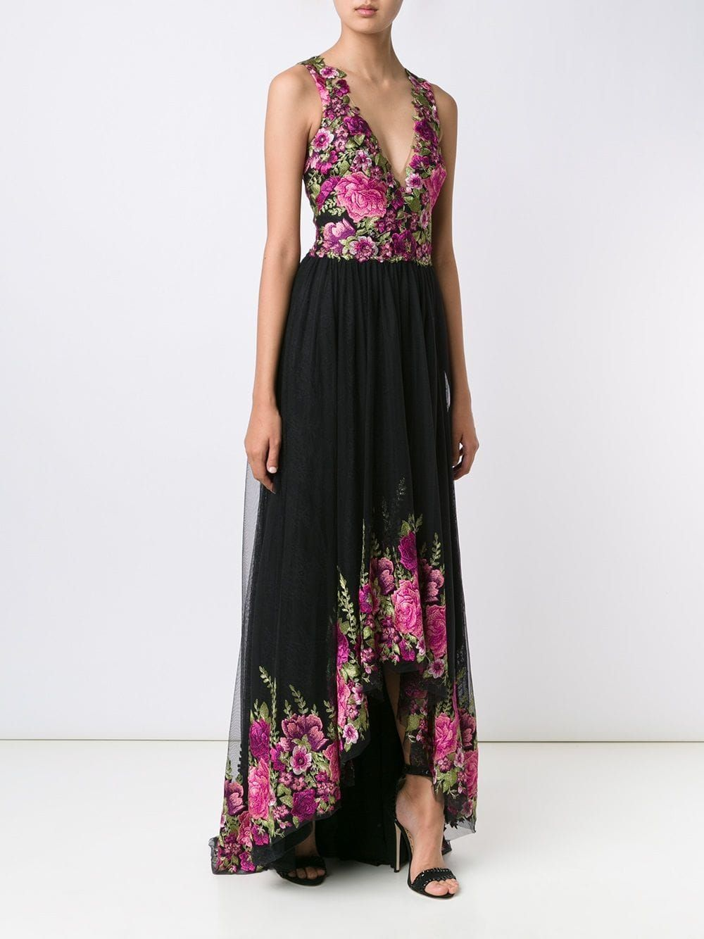 c40333fb Marchesa Notte Floral Print Gown - Farfetch | Mexican Wedding in ...