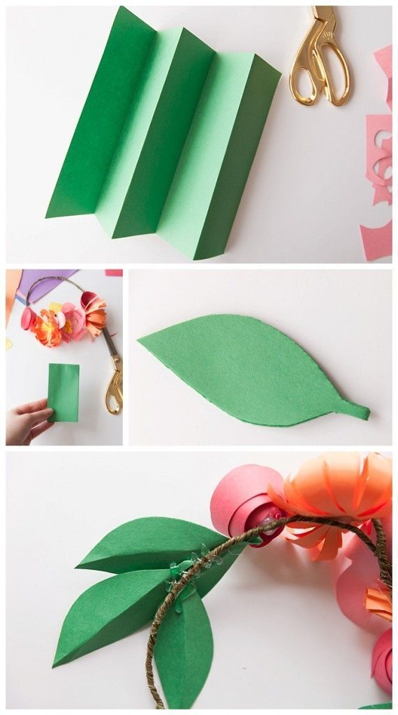 The cutest paper flower crowns you ever did see! (w/ photo tutorials) - #constructionpaperflowers how to quickly make your own leaves out of construction paper #constructionpaperflowers The cutest paper flower crowns you ever did see! (w/ photo tutorials) - #constructionpaperflowers how to quickly make your own leaves out of construction paper #constructionpaperflowers