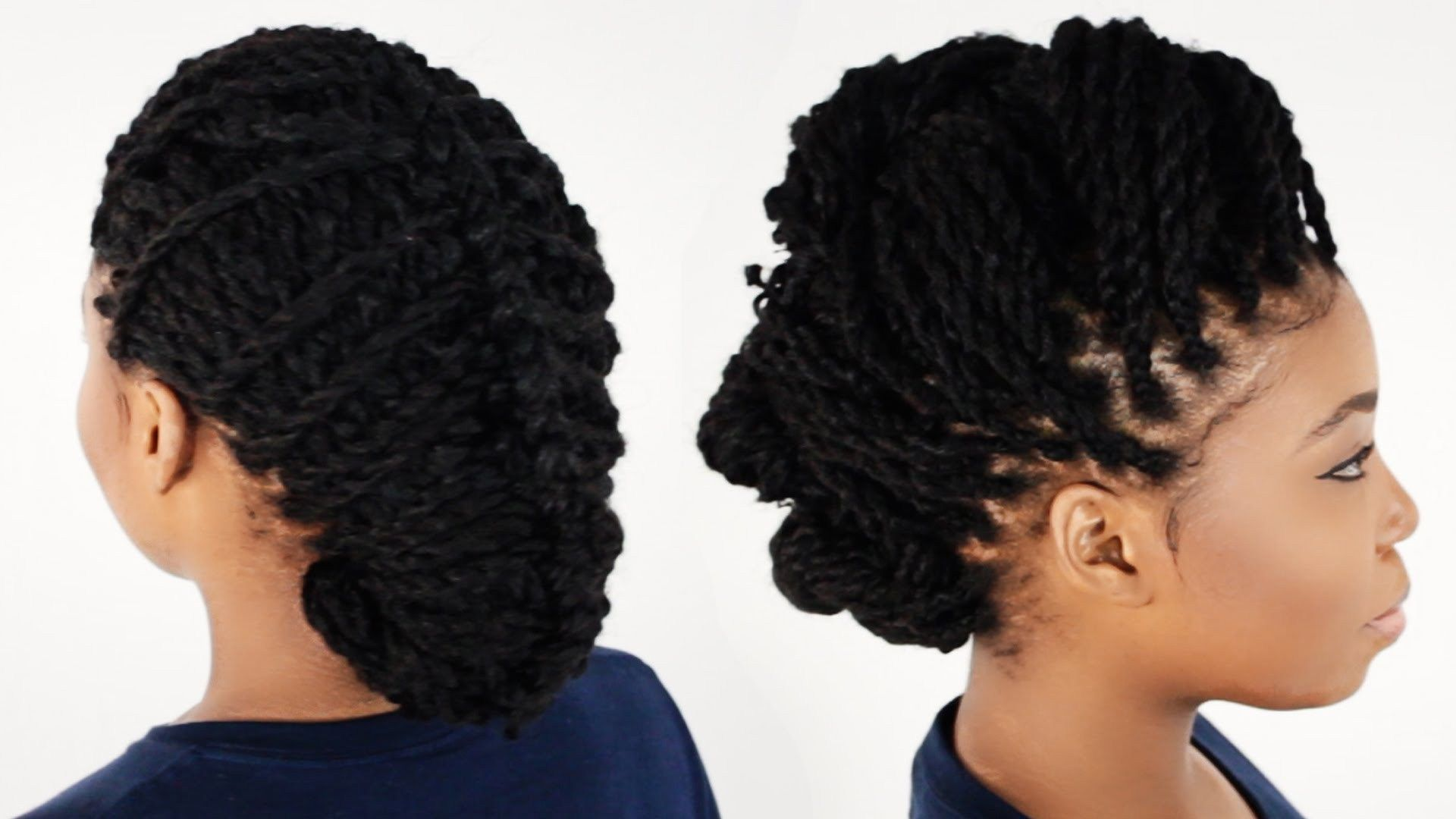Natural kinky twist updo hairstyle enticing kinky twist updo