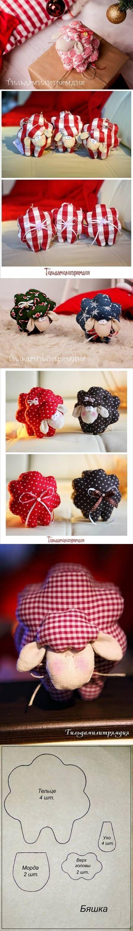 DIY Cute Fabric Lamb   sewing projects   Pinterest   Schäfchen ...