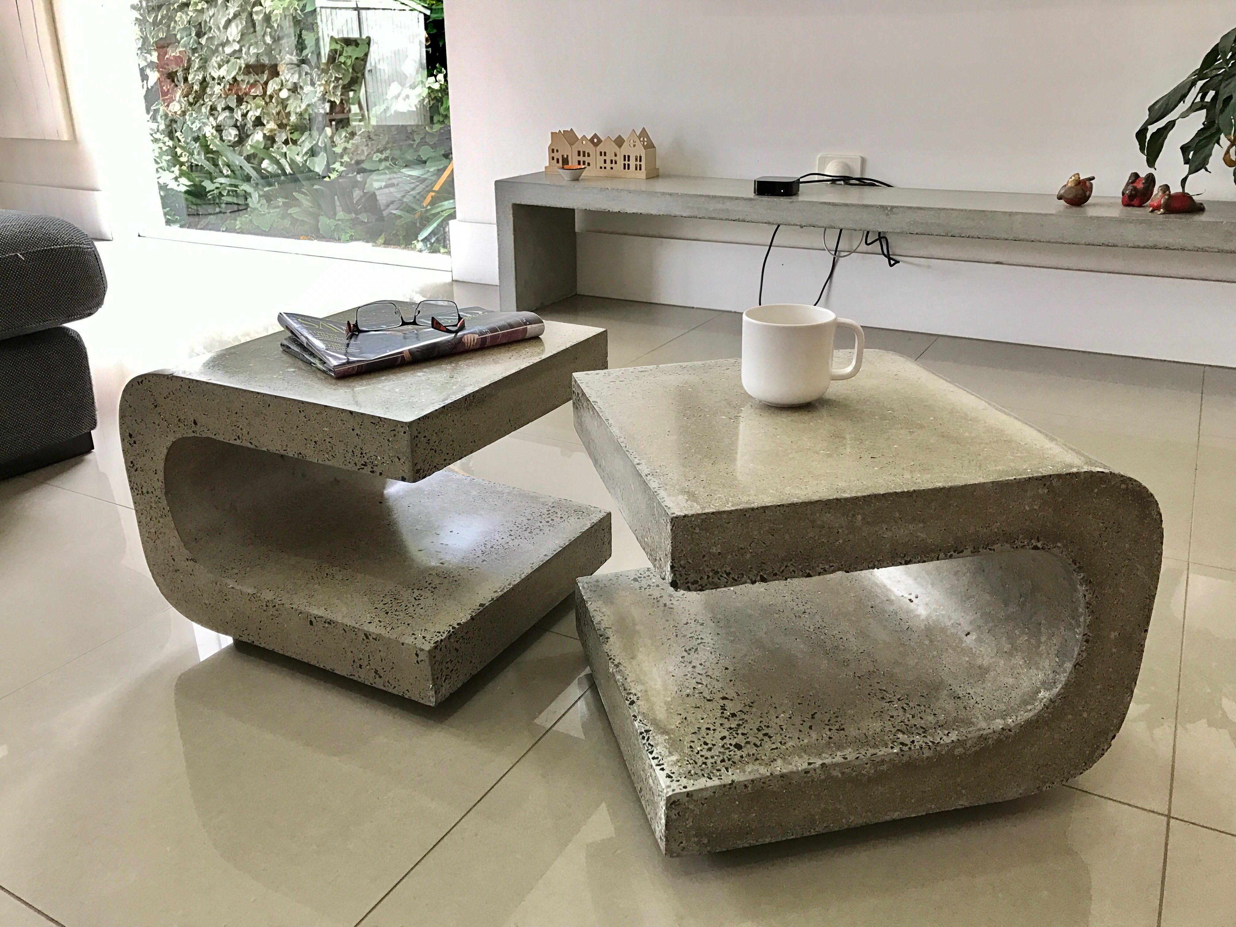 Curved Concrete Coffee Table By Manversusstone Concrete Coffee Table Coffee Table Concrete Table [ 3024 x 4032 Pixel ]