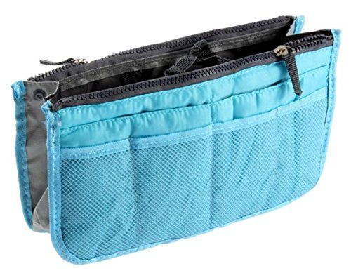 WOMUL Handbag Pouch Bag in Bag Insert Organizer Travel Cosmetic PocketBLUE >>> You can get more details by clicking on the image.