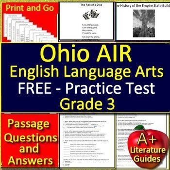 Ohio's State Test Reading and Math Freebie Sample: OST ...