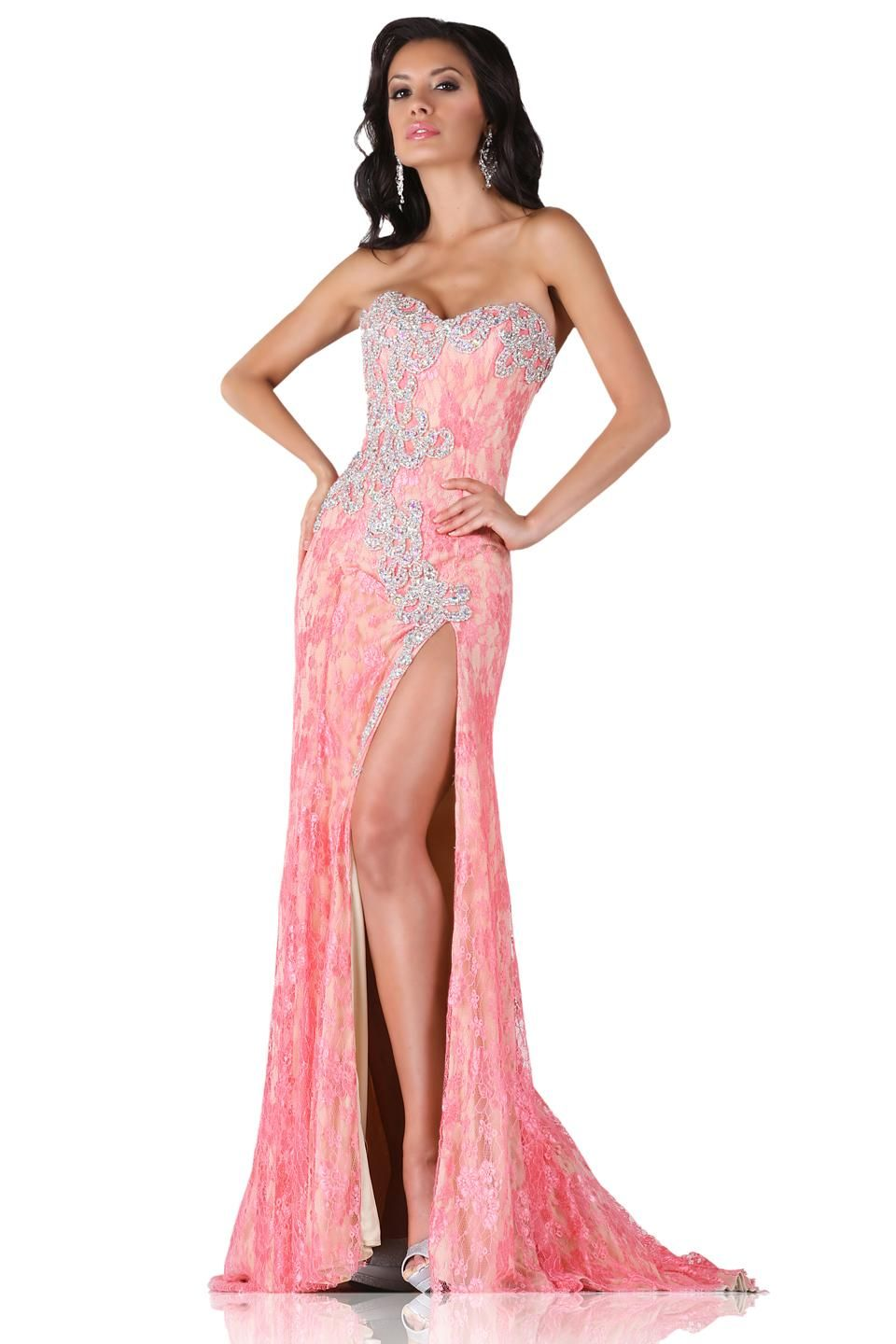 Beautiful Prom Dresses Sweetheart Neckline Backless Crystals Beads ...