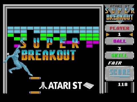 Super Breakout Atari St 1987 Retro Videogames Super