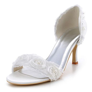 Satin Wedding Women's Stiletto Heel D'Orsay & Two-Piece Heels Shoes(More Colors)