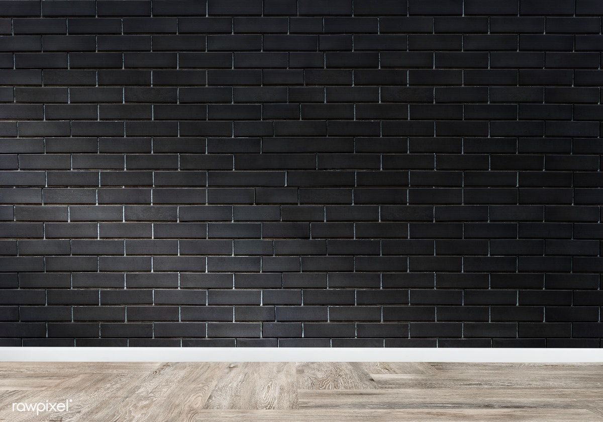 Empty Room With A Brick Wall Mockup Free Image By Rawpixel Com Black Brick Wall Empty Room Brick Wall