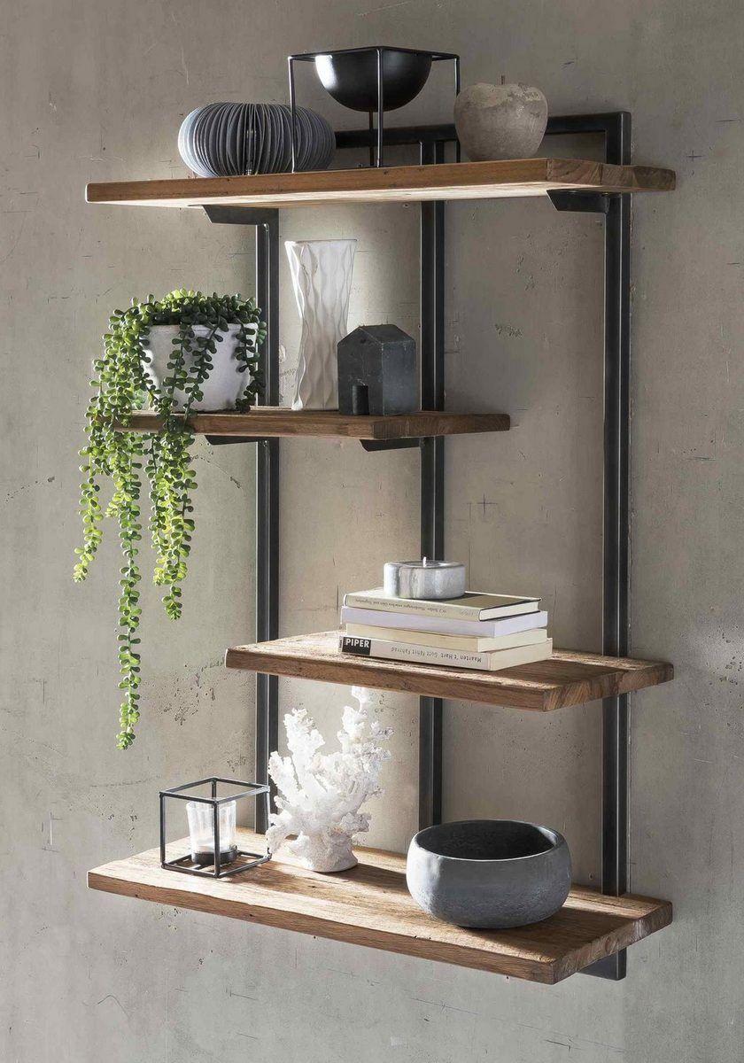 Sit Wandregal Romanteaka Aus Altholz Teak Und Metall Online Kaufen In 2020 Regal Design Wandregal Wohnzimmer Holz Interieur