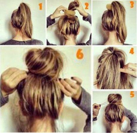 Einfache Hochsteckfrisuren Fur Dunnes Haar Frisuren Pinterest