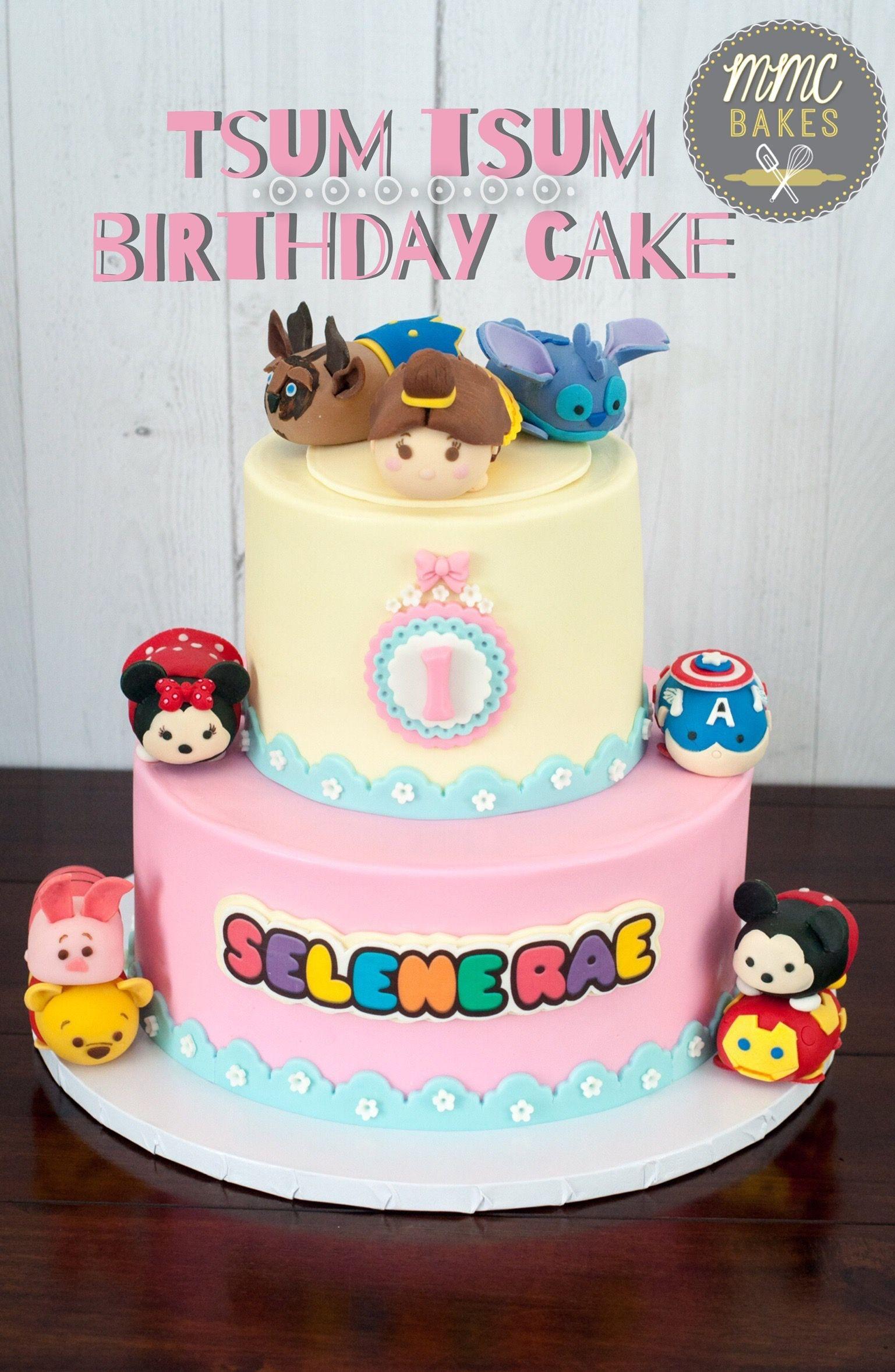 I love this Tsum Tsum birthday cake I made for Selene Raes first