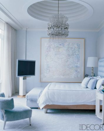 Awesome Bedroom Features Ribbed Tray Ceiling Credit: William Waldron, ElleDecor.com