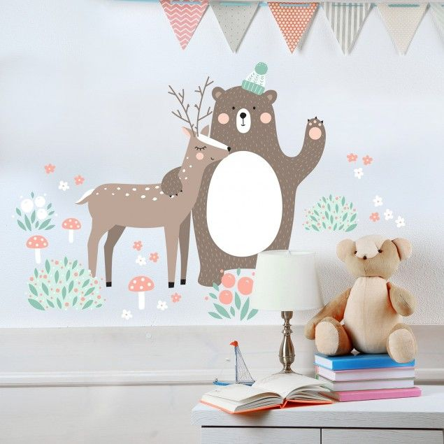 Wandtattoo Kindermuster Forest Friends Mit Bar Und Reh Nursery