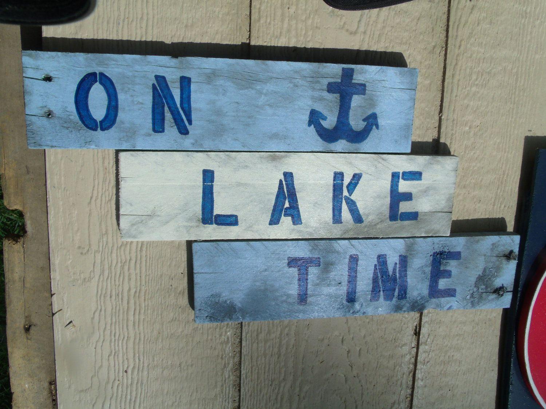 Lake sign by Jenaysdesigns on Etsy