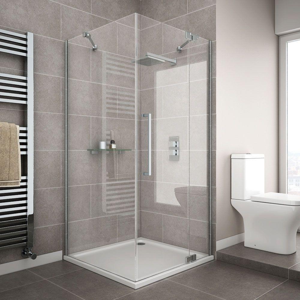 Apollo Frameless Hinged Door Square Enclosure R H Opening Frameless Shower Enclosures Square Shower Enclosures Shower Enclosure