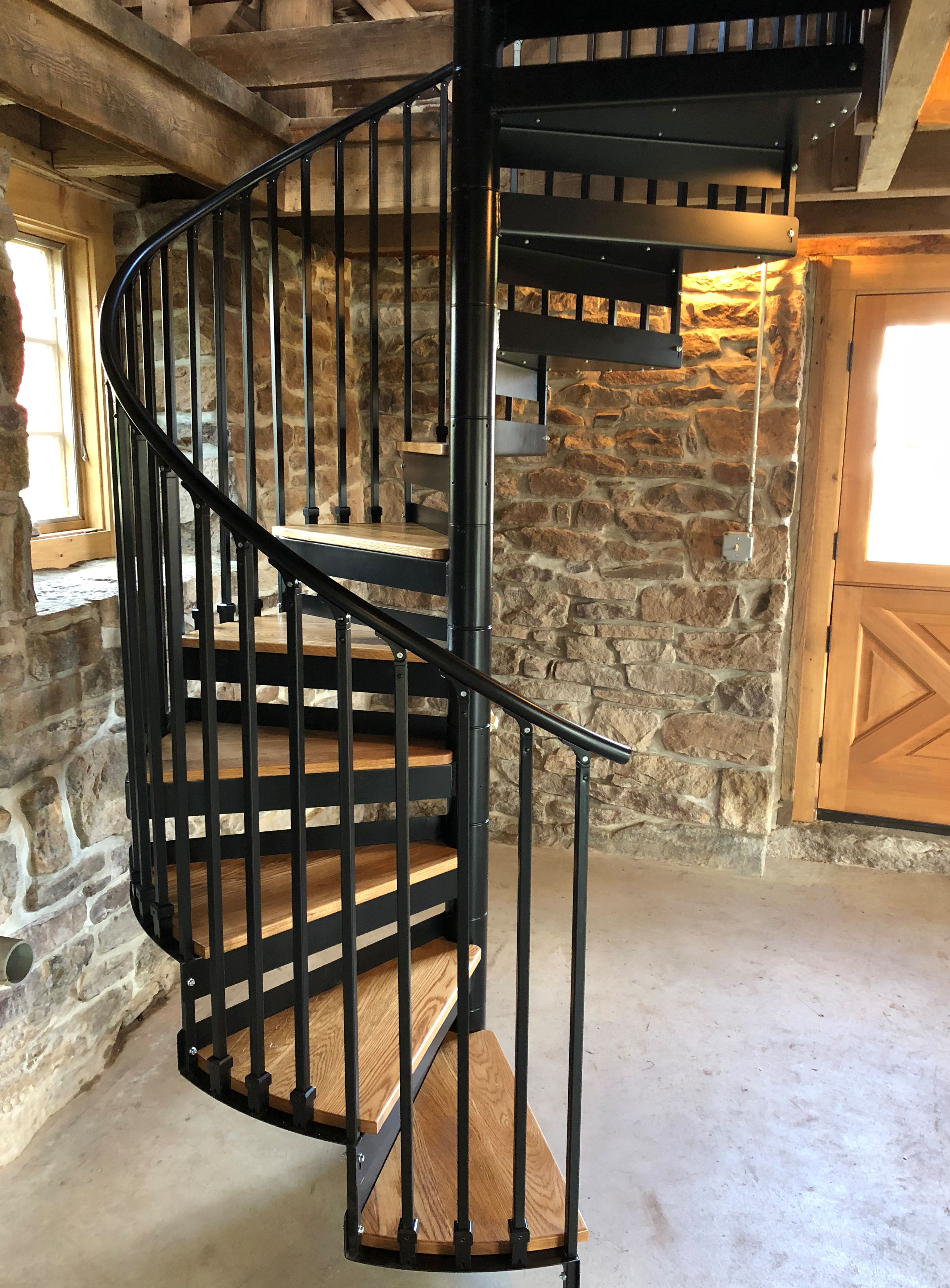 Metal Spiral Staircase Photo Gallery The Iron Shop Spiral Stairs | The Iron Shop Stairs | Staircase Kits | Broomall Pennsylvania | Handrail | Lowes | Stair Railing