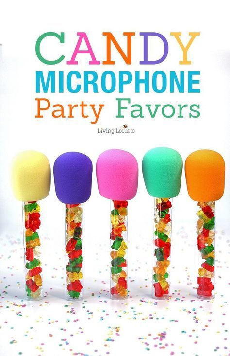 how to make candy microphone party favors easy diy fun food craft