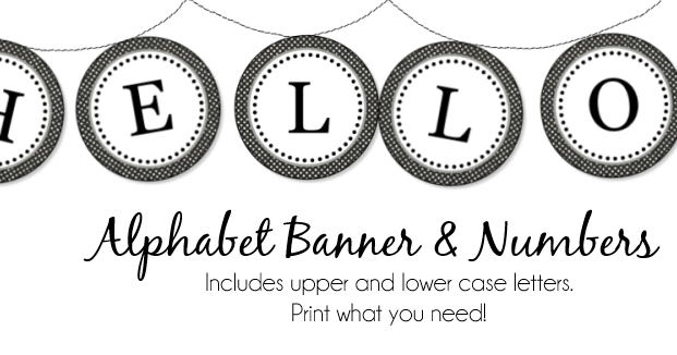 Free Printable Banner Letters And Numbers