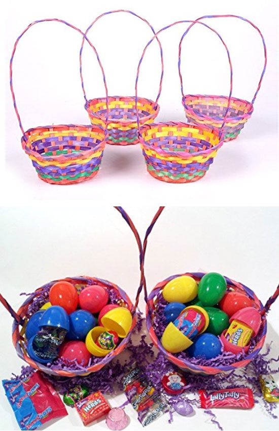 rainbow bamboo easter baskets easy easter basket ideas for kids to