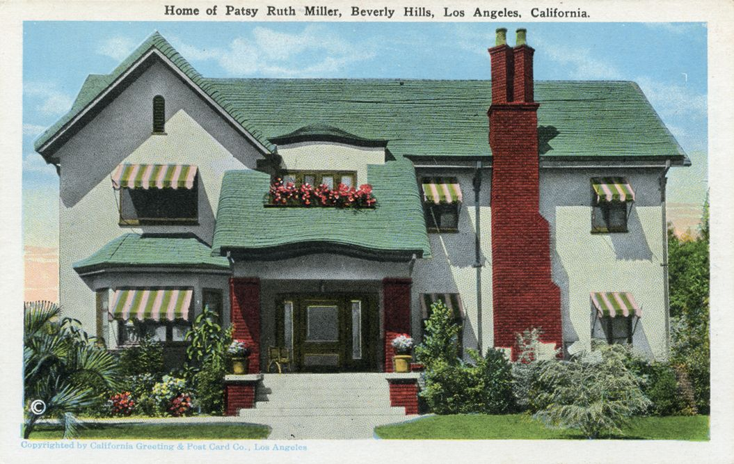 Home Of Silent Film Actress Patsy Ruth Miller Silent Film Stars