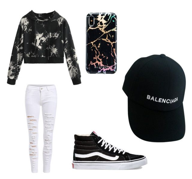 """black/white"" by jazmyn1r on Polyvore featuring Vans and Balenciaga"