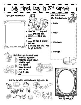 A back-to-school activity booklet. Print each page