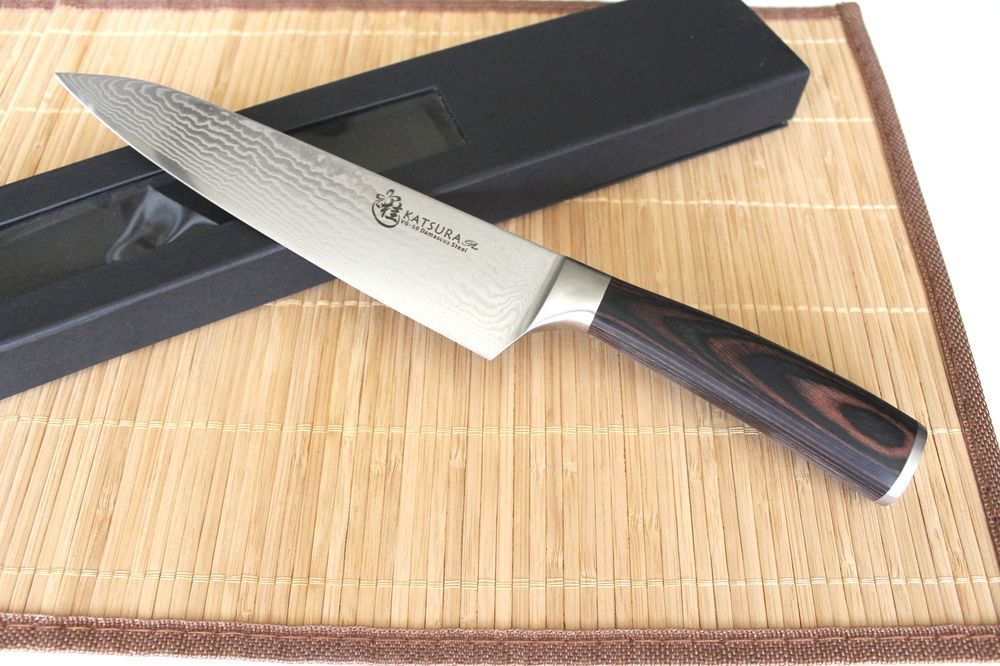 KATSURA Japanese Damascus Steel Gyuto Chef Knife Cutlery VG-10 8