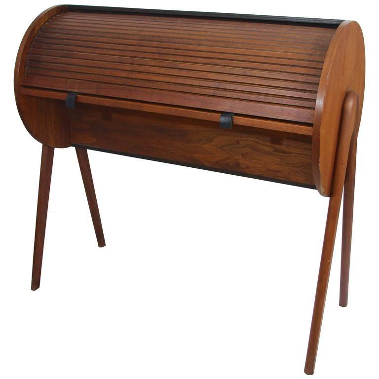 Mid Century Modern Rolltop Desk Modern Dining Furniture Mid Century Desk Furniture