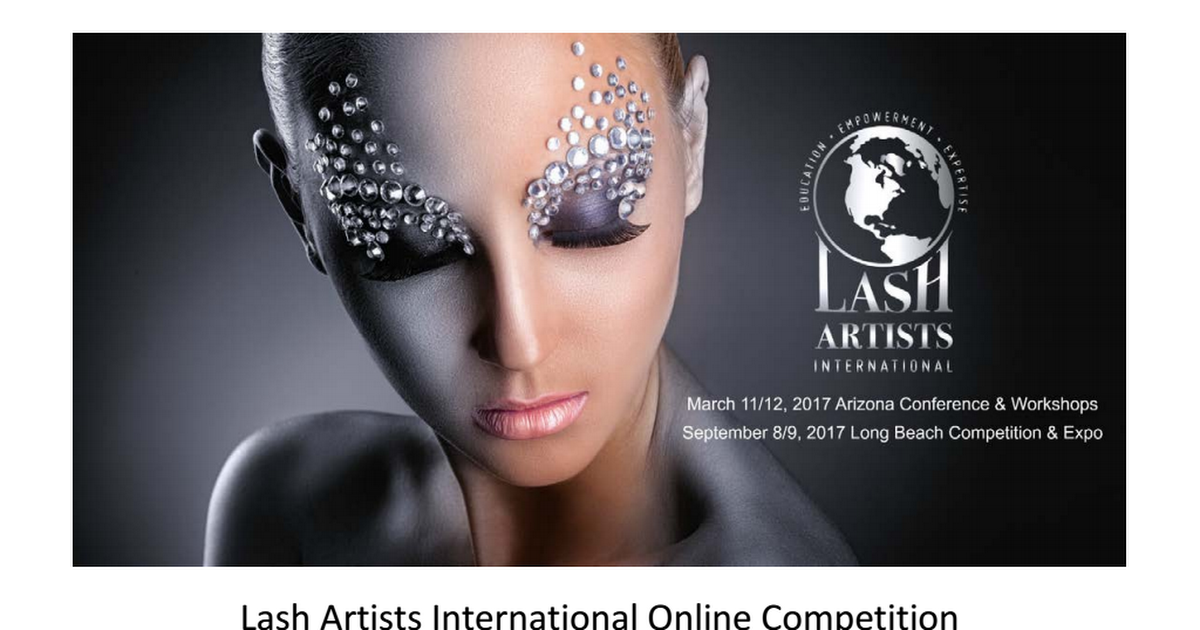 Lash Artists International Online Competition Guide