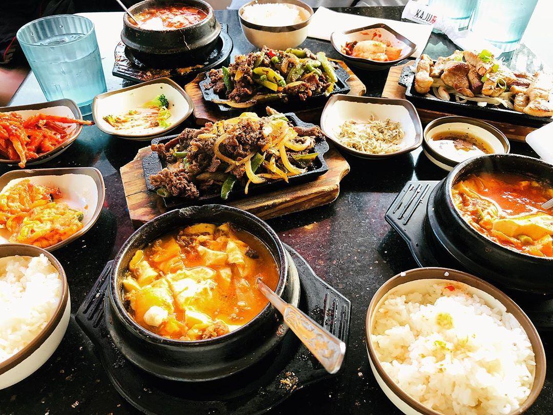 Had delicious tofu soup, bulgogi, and Tteok-bokki at Kaju ...