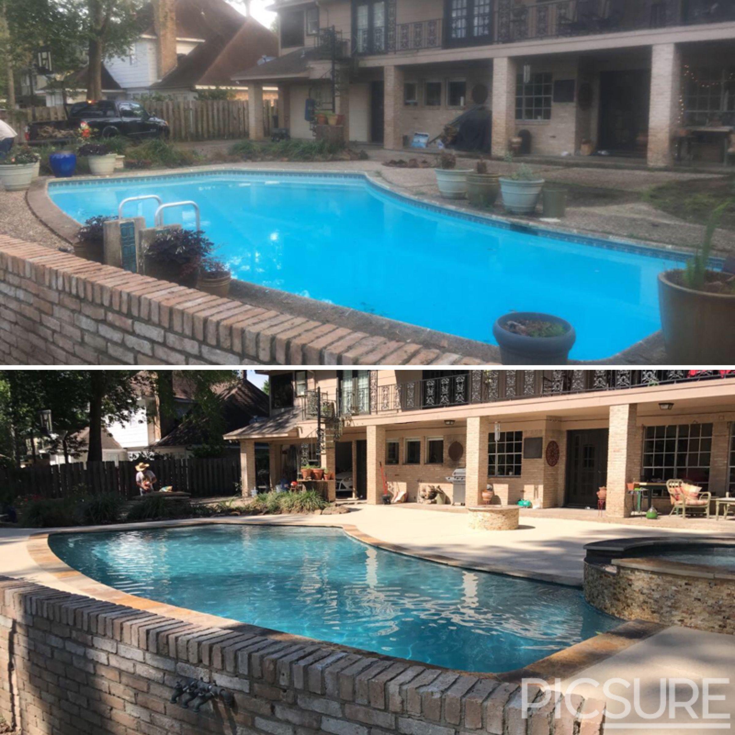 Beautiful renovation we did in conroe tx swimming pool