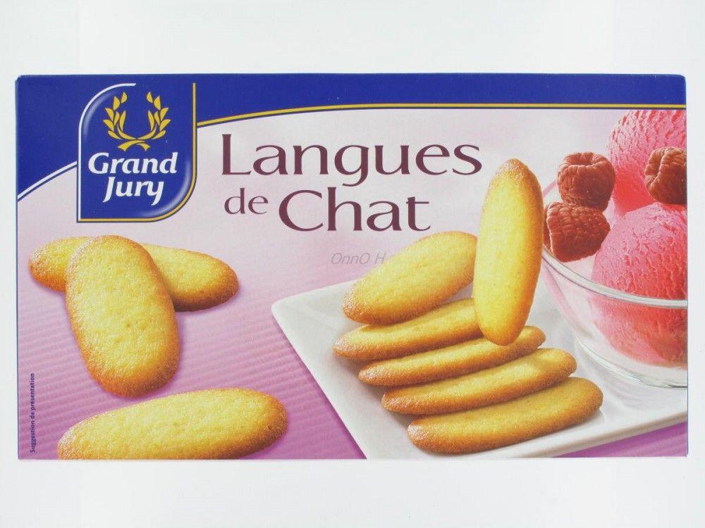 Gateau langue de chat chocolat