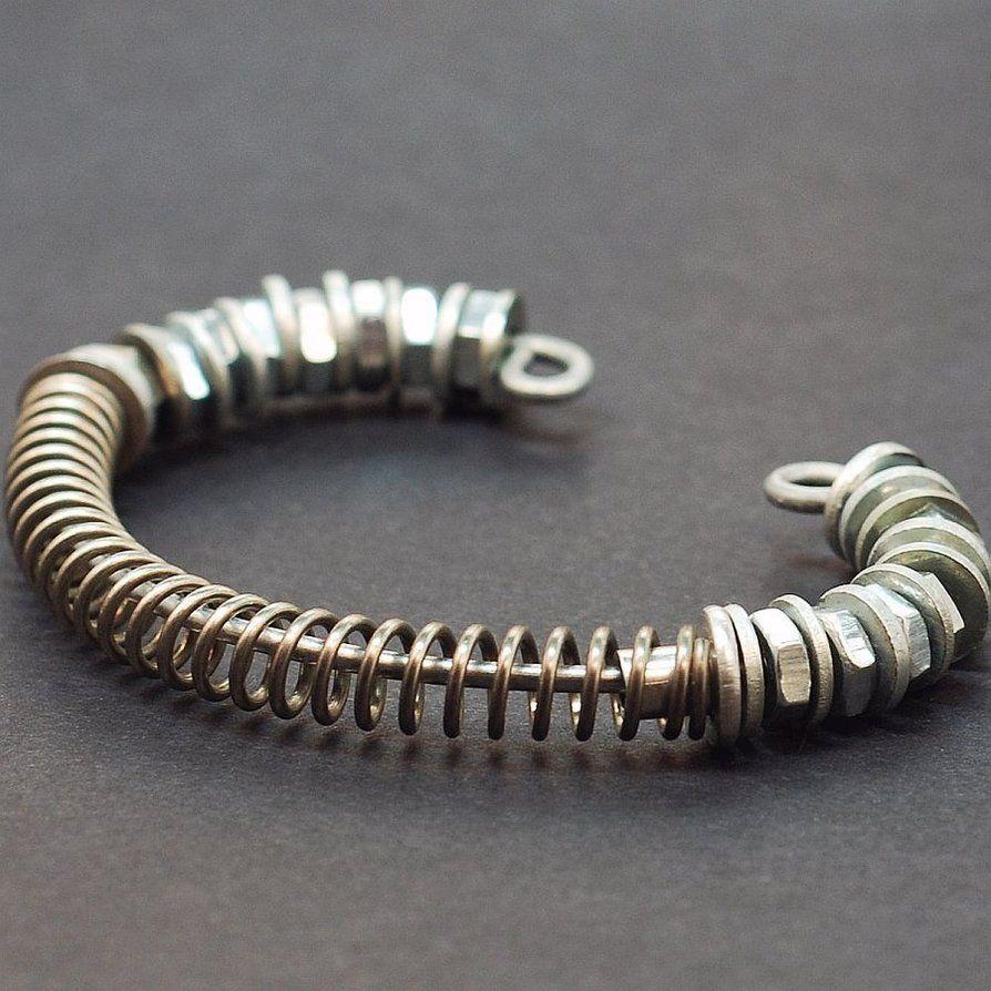 Industrial Jewelry Hardware Bracelet by TanithRohe on deviantART