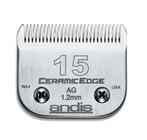 $26.23-$45.00 Andis Ceramic Edge Size 15 Blade - This Andis blade is made of durable ceramic and can be used with Andis detachable blade clippers. It can also be used with other brands of detachable type clippers. You can use this blade with multiple types of clippers and attaches easily. Andis' universal attachment combs will also fit this blade set. http://www.amazon.com/dp/B00061MWOU/?tag=pin2pet-20