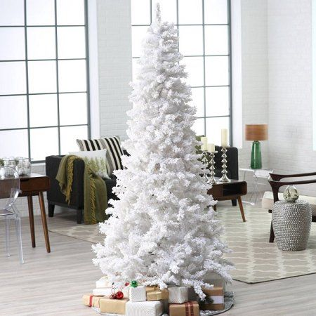 White Pre-Lit 4FT Artificial Christmas Pine Tree with LED Color