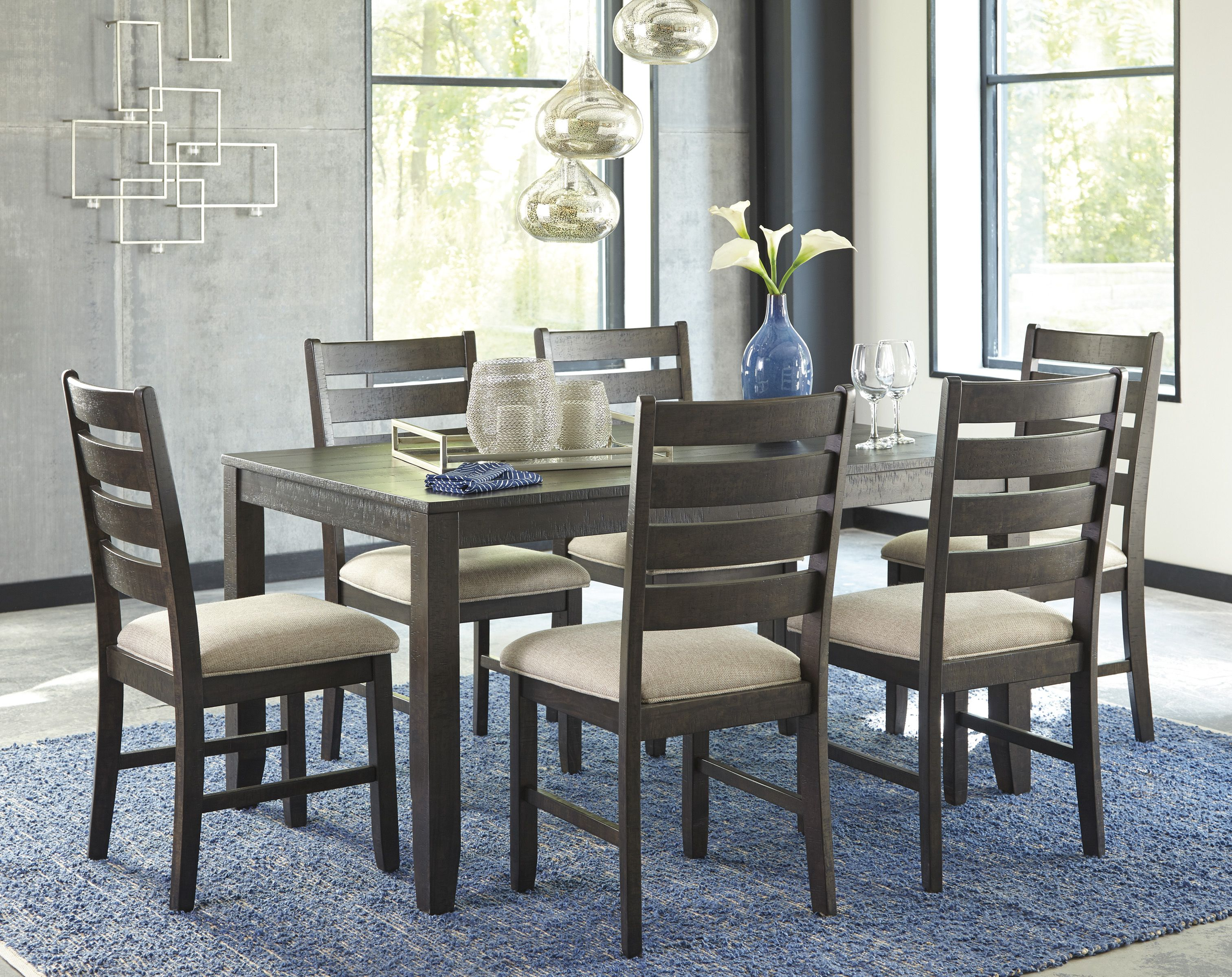 Rokane 7 Piece Dining Set D397 You Love A Clean And Contemporary