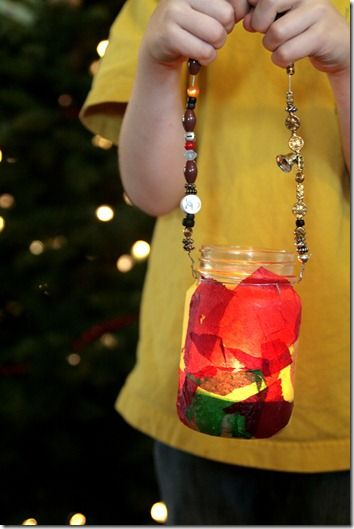Making a stained glass hanging lantern
