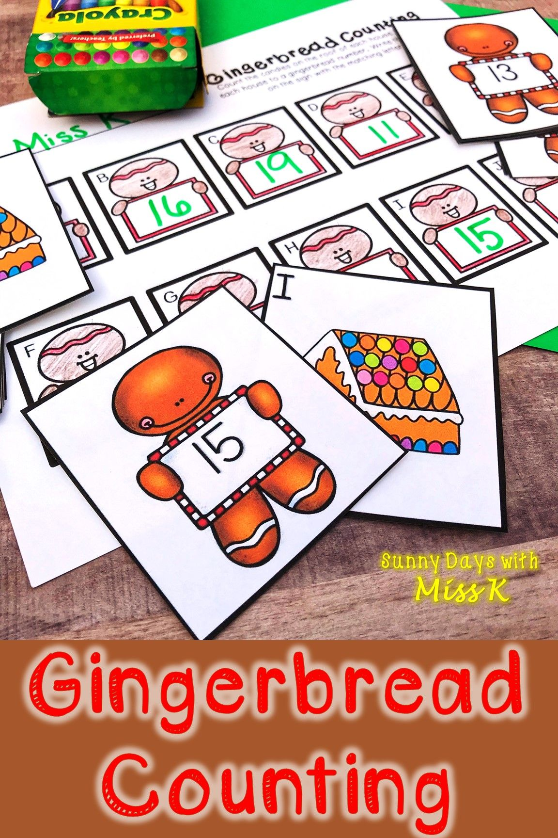 Kindergarten Gingerbread Math Center