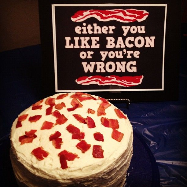 Maple Bacon Birthday Cake Hed Eat The Hell Out Of This Adams