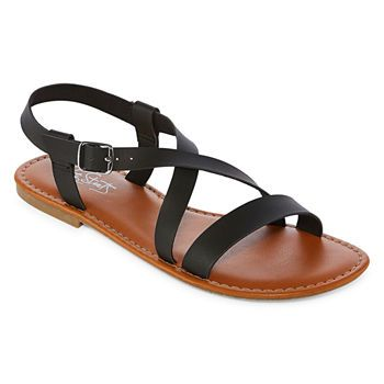 da292a94235f Flat Sandals Women s Sandals   Flip Flops for Shoes - JCPenney ...