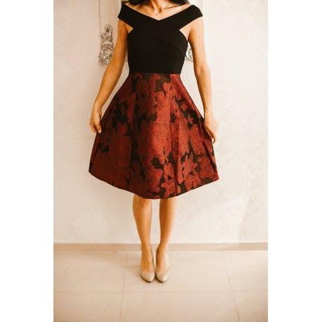 Rozkloszowana Zakardowa Sukienka Midi W Kwiaty Midi Dress Dresses Floral Midi Dress