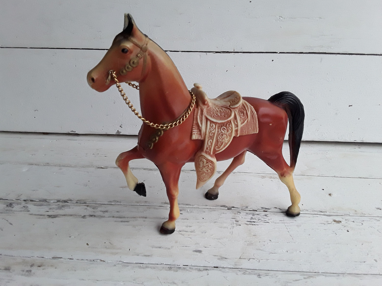Vintage Plastic Horse Marked Hong Kong